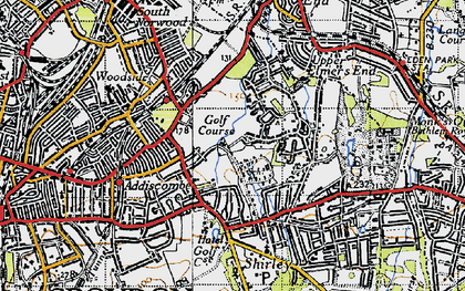 Old map of Shirley in 1946