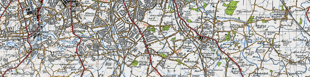 Old map of Shirley in 1947