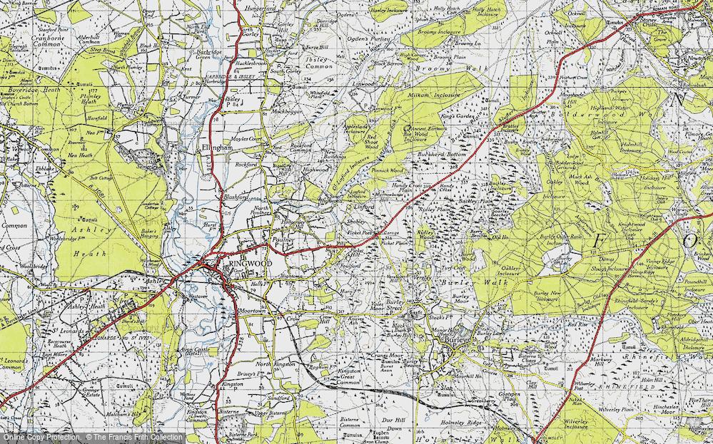 Old Map of Shobley, 1940 in 1940
