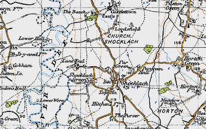 Old map of Lane End in 1947