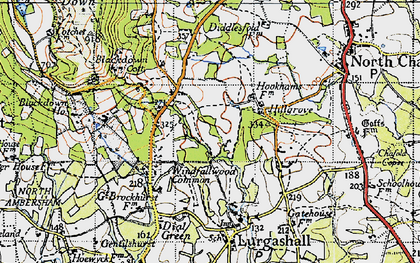 Old map of Abesters in 1940