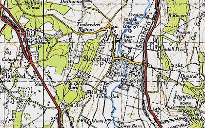 Old map of Shoreham in 1946