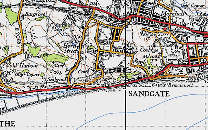 Old map of Shorncliffe Camp in 1947