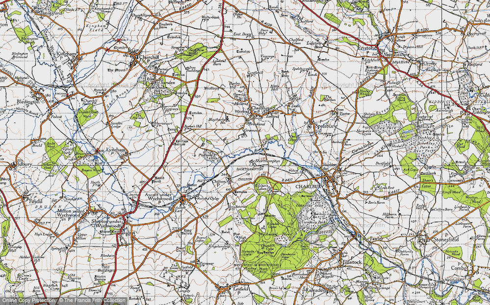 Old Map of Shorthampton, 1946 in 1946