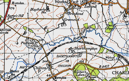Old map of Shorthampton in 1946