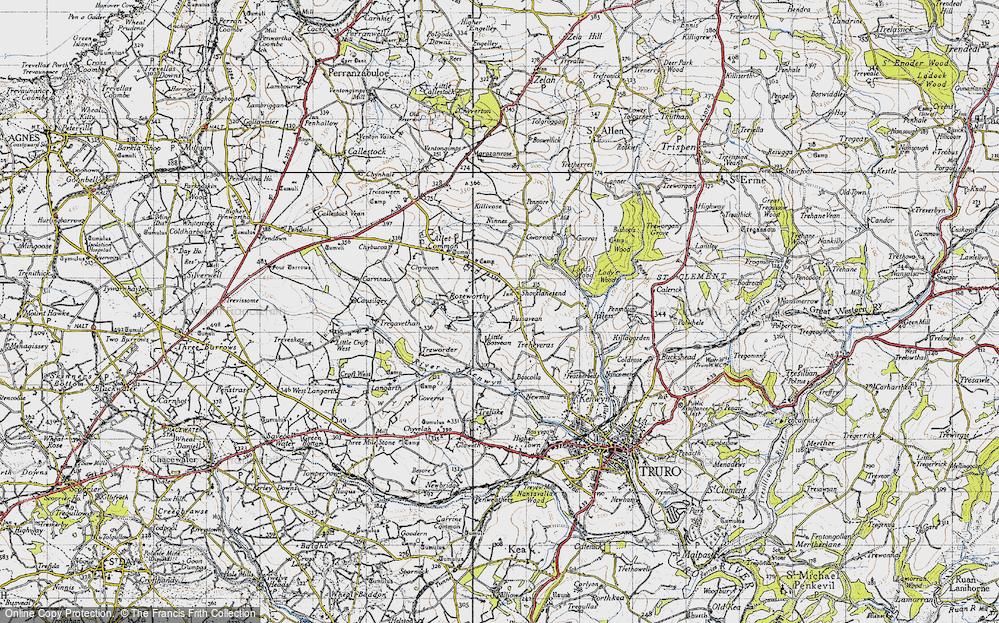 Old Map of Shortlanesend, 1946 in 1946