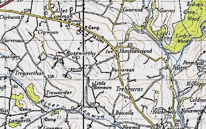 Old map of Shortlanesend in 1946