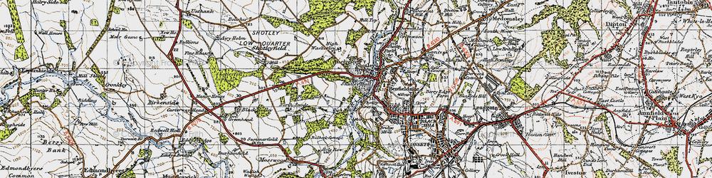 Old map of Shotley Bridge in 1947