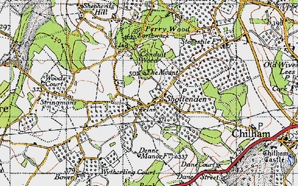 Old map of Woods Court in 1946