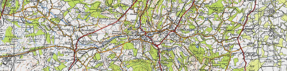 Old map of Shottermill in 1940