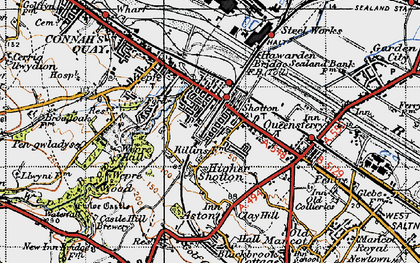Old map of Shotton in 1947