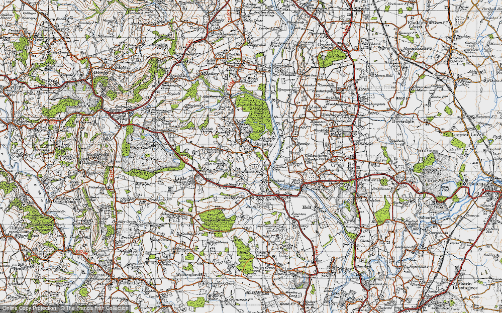 Old Map of Shrawley, 1947 in 1947