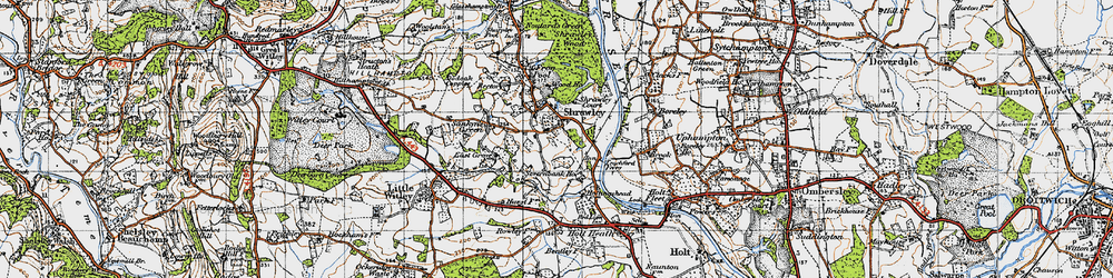Old map of Shrawley in 1947