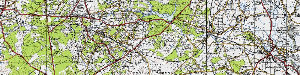 Old map of Wheatsheaf Hotel in 1940