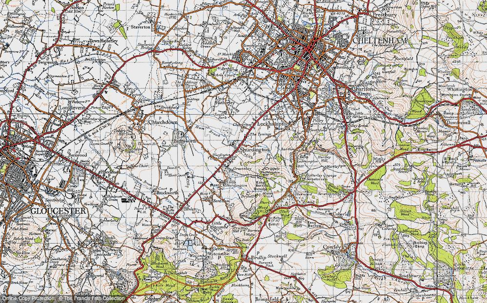 Old Map of Shurdington, 1946 in 1946