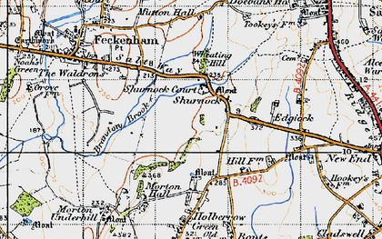 Old map of Wheating Hill in 1947