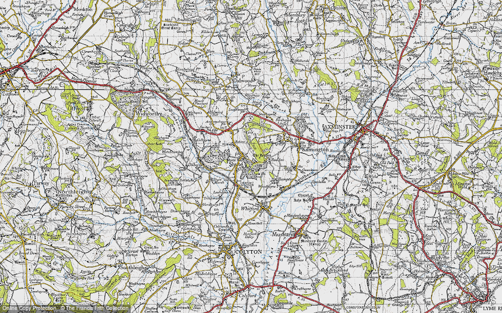 Old Map of Shute, 1946 in 1946