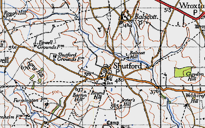 Old map of Alkerton Grounds in 1946