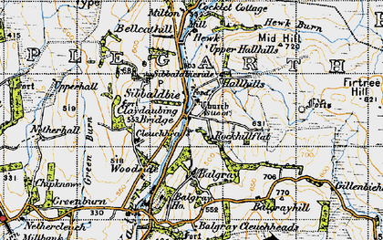 Old map of Balgray Ho in 1947