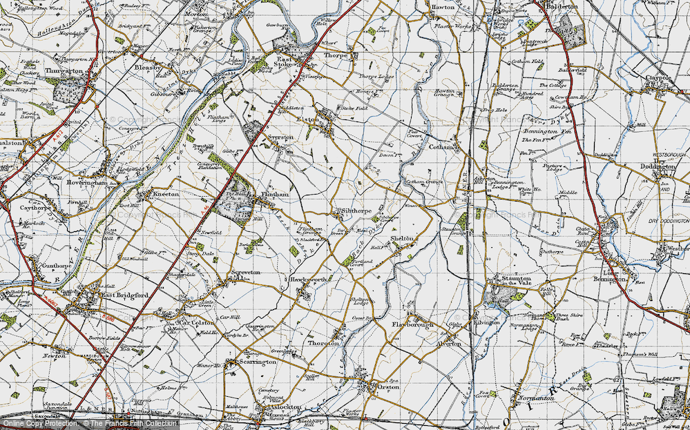 Old Map of Historic Map covering Back Dyke in 1946