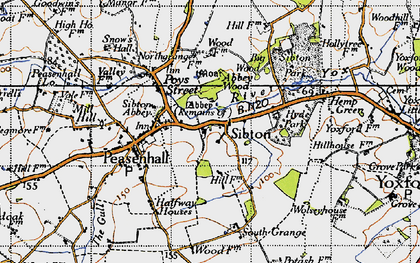 Old map of Sibton in 1946