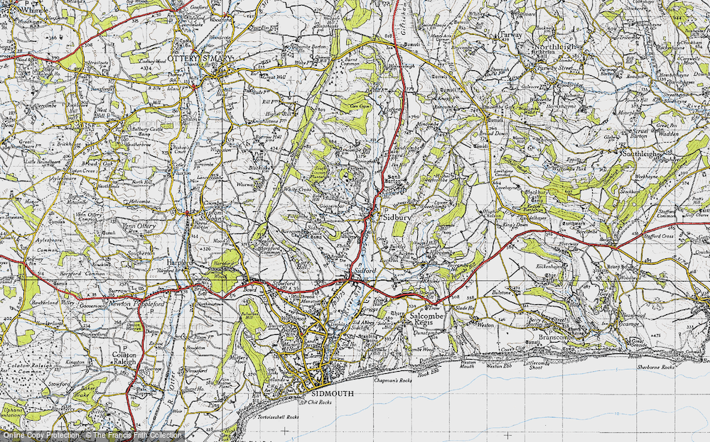 Old Map of Sidbury, 1946 in 1946