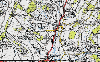 Old map of Sidbury in 1946