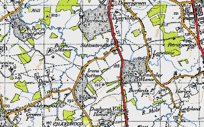 Old map of Sidlow in 1940