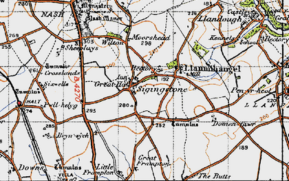 Old map of Sigingstone in 1947