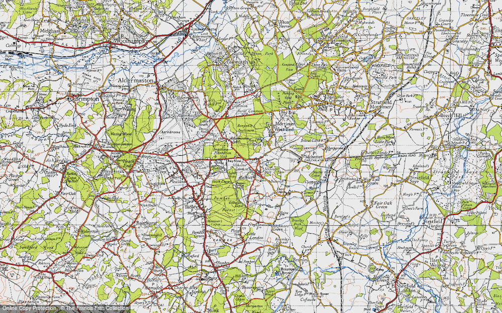 Old Map of Silchester, 1945 in 1945