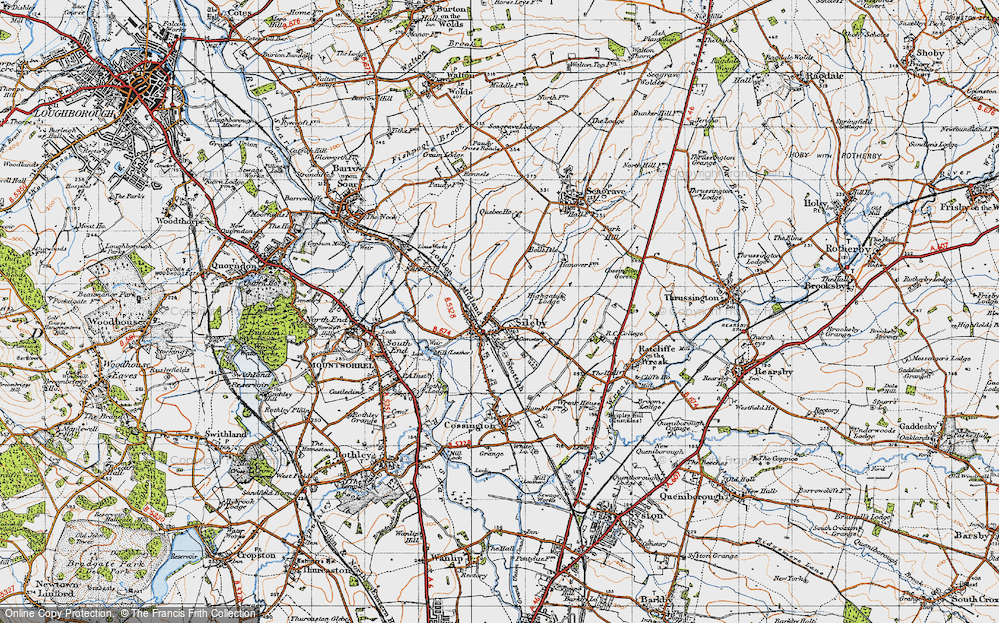 Old Map of Historic Map covering Leicestshire Round, The in 1946