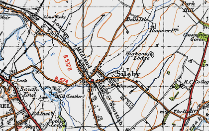 Old map of Sileby in 1946
