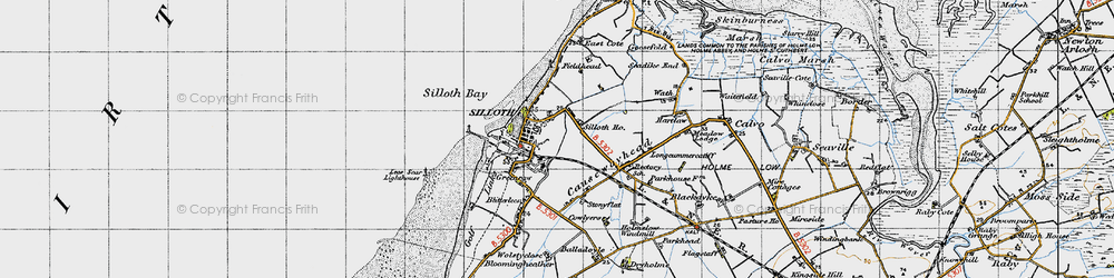 Old map of Windmill, The in 1947