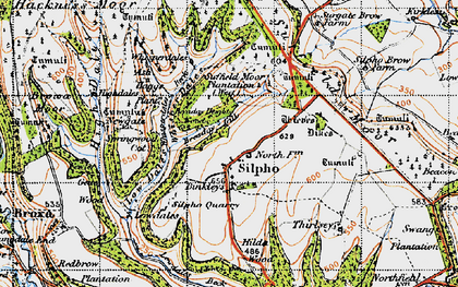 Old map of Whisperdales in 1947