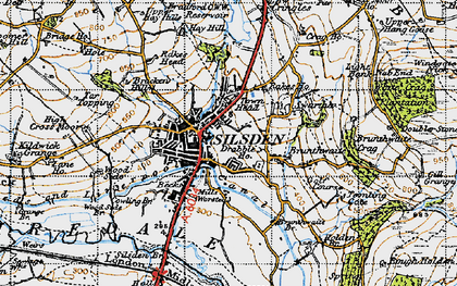 Old map of Silsden in 1947