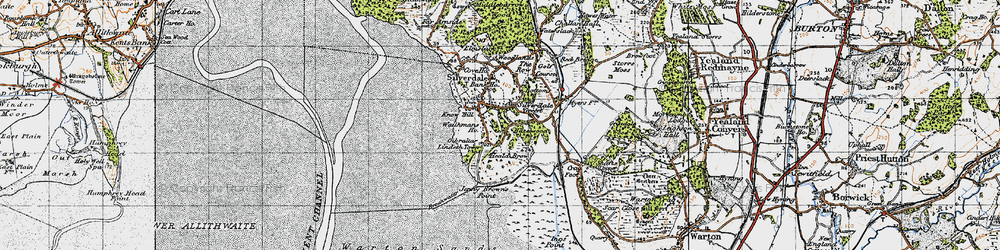 Old map of Lindeth Twr in 1947