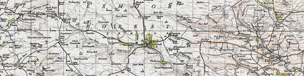 Old map of Lime Combe in 1946