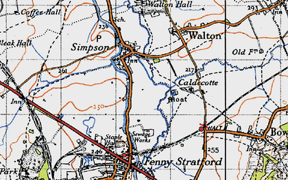 Old map of Simpson in 1946