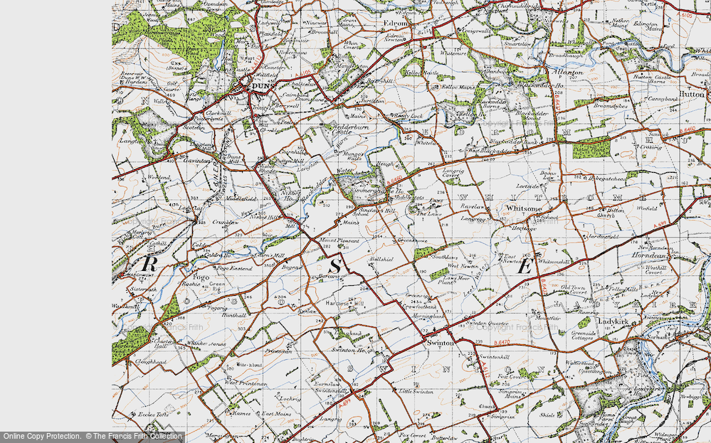 Old Map of Historic Map covering Laws, The in 1947