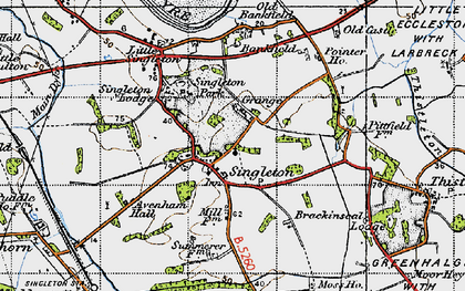 Old map of Singleton in 1947