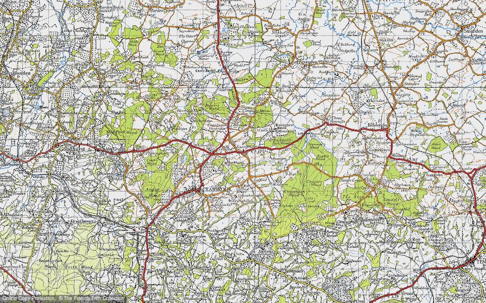 Old Map of Sissinghurst, 1940 in 1940