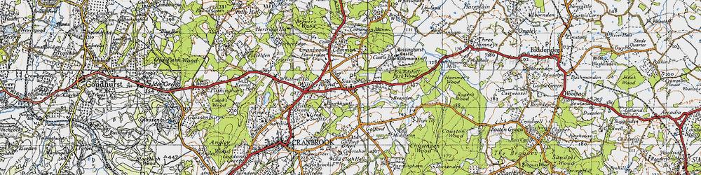 Old map of Sissinghurst in 1940