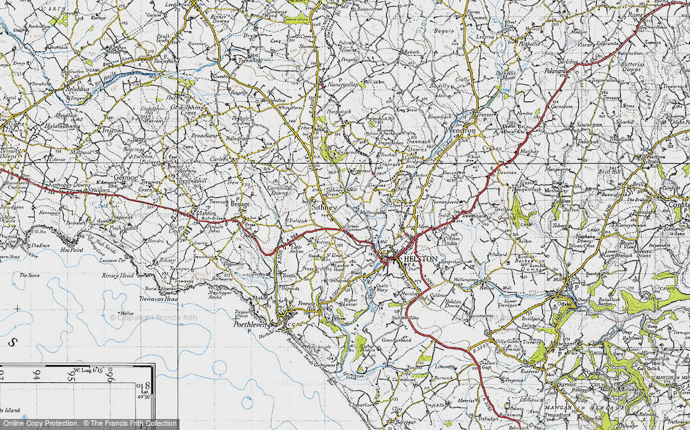 Old Map of Historic Map covering Lanner Vean in 1946
