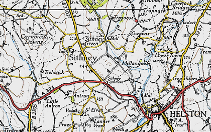 Old map of Lanner Vean in 1946