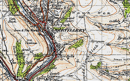 Old map of Six Bells in 1947