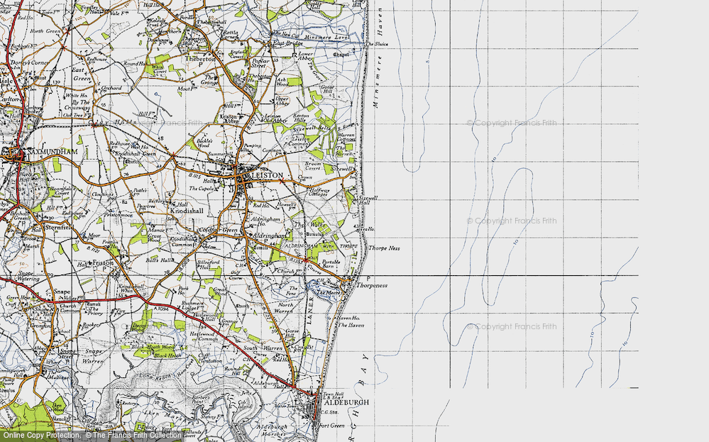Old Map of Sizewell, 1946 in 1946