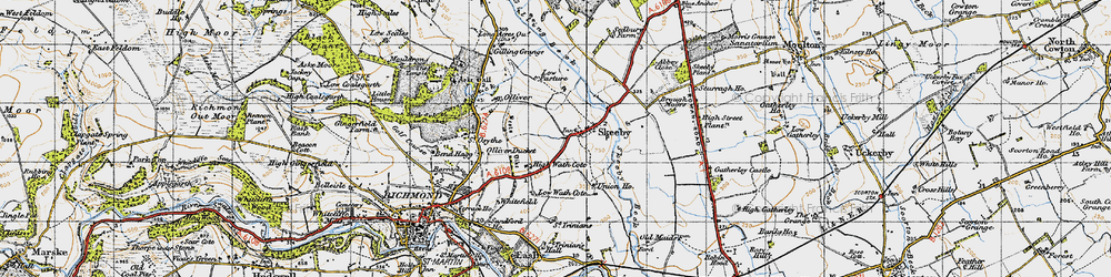 Old map of Skeeby in 1947