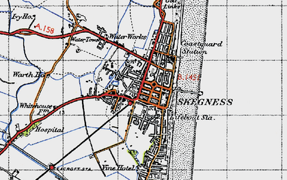 Old map of Skegness in 1946