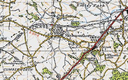 Old map of Skelmanthorpe in 1947