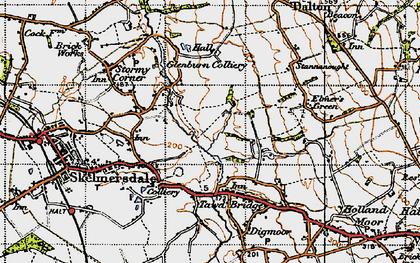 Old map of Skelmersdale in 1947